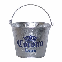 Corona Tin Ice Bucket - Set of 2