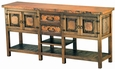 Country Buffet with Copper top and Wood Shelves