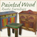 Country Style Mexican Painted Furniture