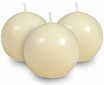 "Cream 2.5"" Ball Candles - Set of 6"