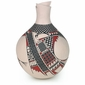 Cream Mata Ortiz Vase with Geometric Design