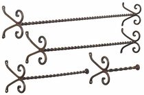 4 Piece Curly Iron Towel Rack Set