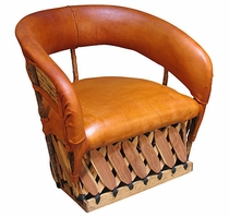 Cushioned Equipal Lounge Chair