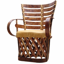 Set of 2 Cushioned Mayan  Equipale Chairs