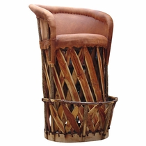 Cushioned Seat Traditional Equipale Bar Stool