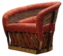 Cushioned Twig Back Lounge Chair