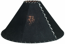 Dark Brown Pigskin Lamp Shade