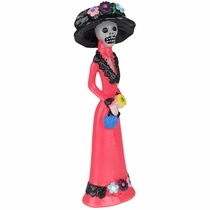 Day of the Dead Catrina Skeleton Candle with Hat