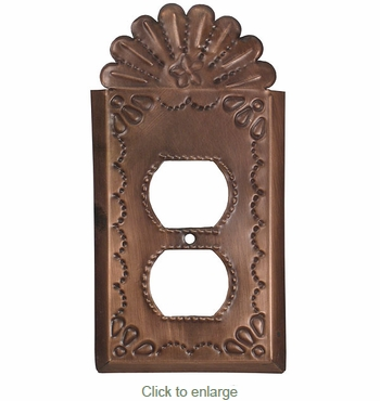 Decorative Tin Outlet Cover - Star with Crown
