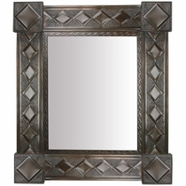 Decorative Tin Wall Mirror