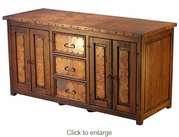 Deep Copper and Old Wood Buffet