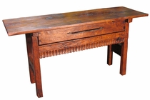 Distressed Colonial Mesquite Sofa Table