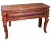 Distressed Mesquite Curved Leg Console Table