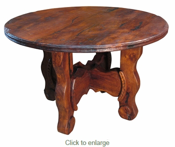Distressed Mesquite Ox Yoke Table 48