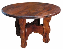 "Distressed Mesquite Ox Yoke Table 48"" Dia."