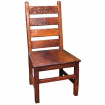 Distressed Mesquite Ranch Chair