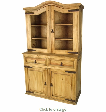Rustic Pine Cupboard with Domed Top - Mexican Furniture