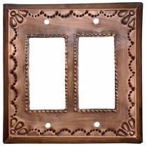 Double Rocker Tin Decorative Switchplate - Star