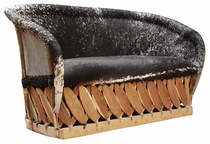 Equipale Cushioned Cowhide Love Seat