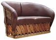 Equipale Love Seat - Chocolate Leather