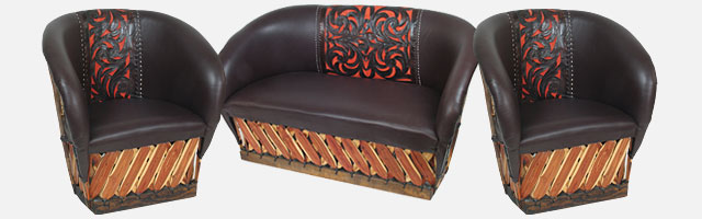 Sensational Equipale Tanned Cowhide Leather Furniture Bralicious Painted Fabric Chair Ideas Braliciousco