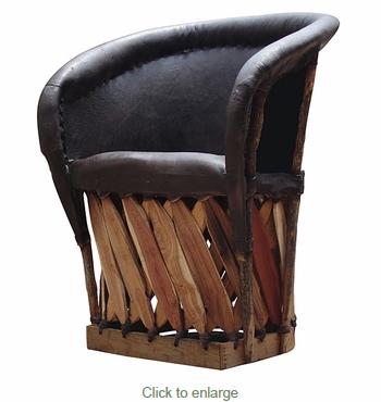 Equipale Traditional Barrel Chair - Cushioned