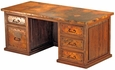 Executive 5 Drawer Desk With Copper