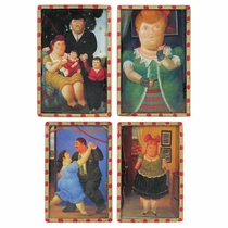 Fernando Botero Refrigerator Magnets - Set of 4