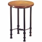 Figure Eight Round Bar Table with Copper Top