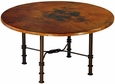 Figure Eight Round Dining Table with Copper Top