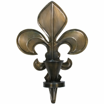 Rustic wall candle sconces and wall candleholders from mexico Fleur de lis wall
