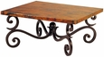Fountain Iron Base Coffee Table with Copper Top