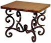Fountain Iron Base End Table with Copper Top