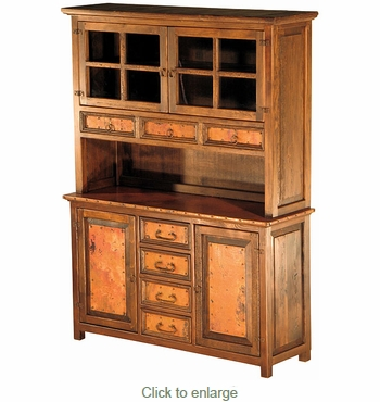 Francisco 3 drawer 2 drawer Buffet with Hutch