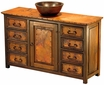 Francisco Old Wood and Copper Sink Cabinet with Copper Vessel Sink