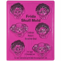 Frida Chocolate Skull Molds - Set of 2