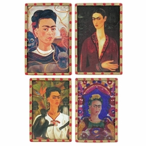 Frida Kahlo Portrait Refrigerator Magnets - Set of 4