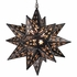 Frosted Glass and Aged Tin Cutout Star Light