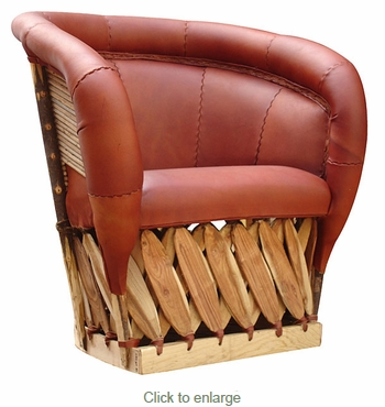 Equipale Fully Cushioned Cancun Lounge Chair