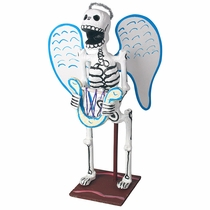 Action Sculpture Skeleton Angel with Harp