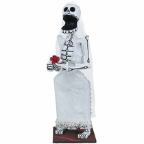Skeleton Bride Day of the Dead Sculpture