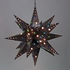 Giant Aged Tin Star Light with Marbles - 36