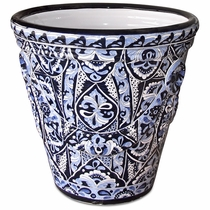 Giant Blue and White Talavera Garden Pot