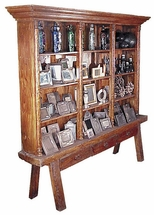 Giant Old Wood Trastero Display Cabinet