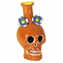 Glazed Skull Candle Holders - Set of 2