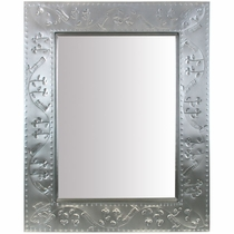 "Grayed Tin Vine Mirror - 24"" x 30"""