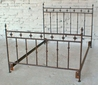 Hammered Arrow Forged Iron Bed