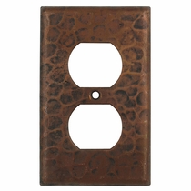 Hammered Copper Outlet Cover