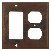 Hammered Copper Rocker and Outlet Cover