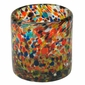 Hand Blown Confetti Rocks Glass - Set of 4